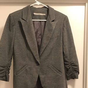Gibson blazer - Grey with rouged sleeves